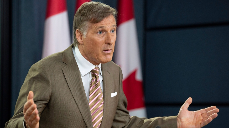 Maxime Bernier speaks about his new political party during a news conference in Ottawa, Friday, Sept. 14, 2018. THE CANADIAN PRESS/Adrian Wyld