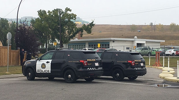 Police locked down a school in the Montgomery area after someone reported seeing a gun.