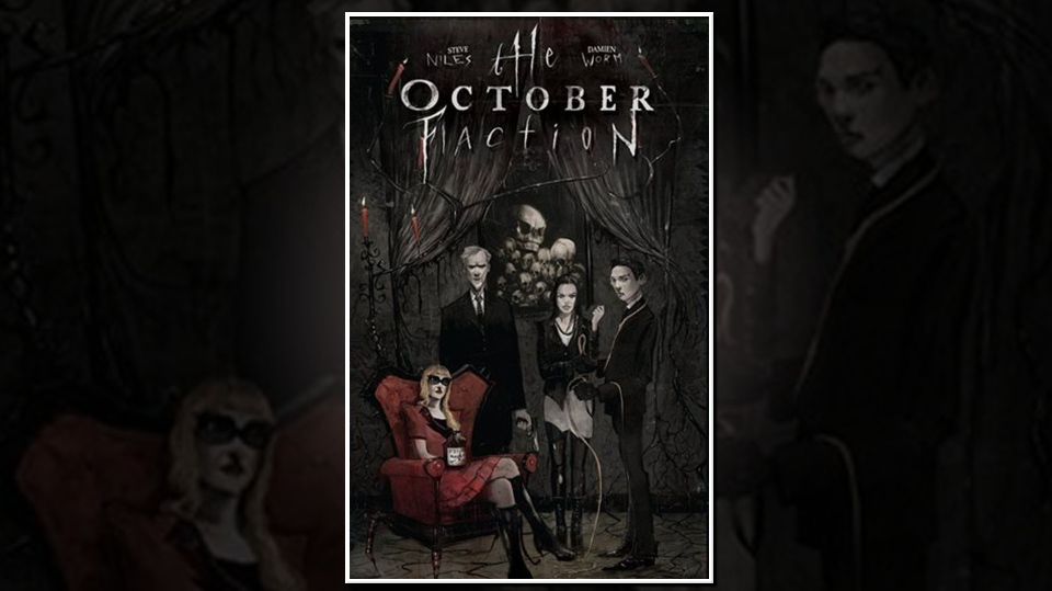 "Cover of the graphic novel ""The October Faction."""