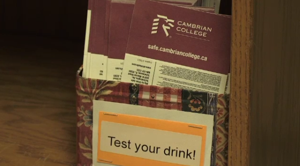 Test your drink, Cambrian College