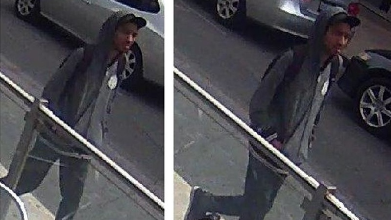 Security camera images of a suspect wanted in connection with a sexual assault in Toronto's Yorkville neighbourhood. (Toronto police handout)