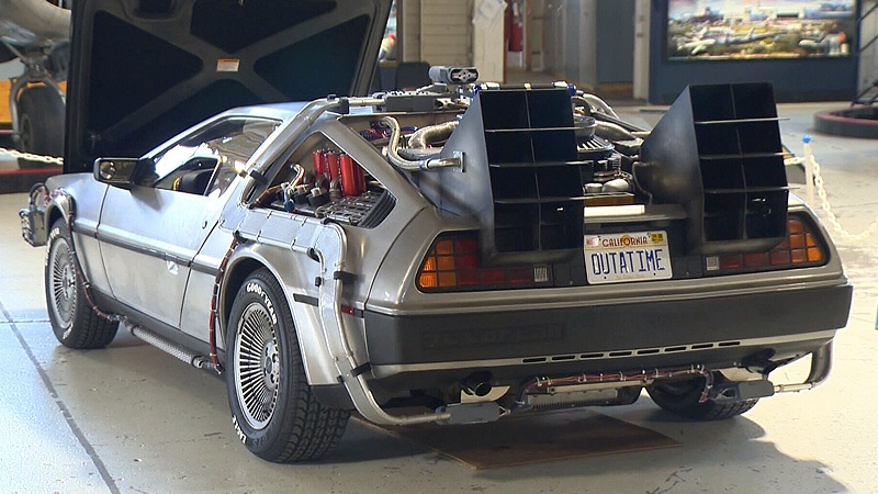 Lech Lebiedowski's Delorean will be on display at the Open Cockpit Day on Saturday, September 15, 2018.
