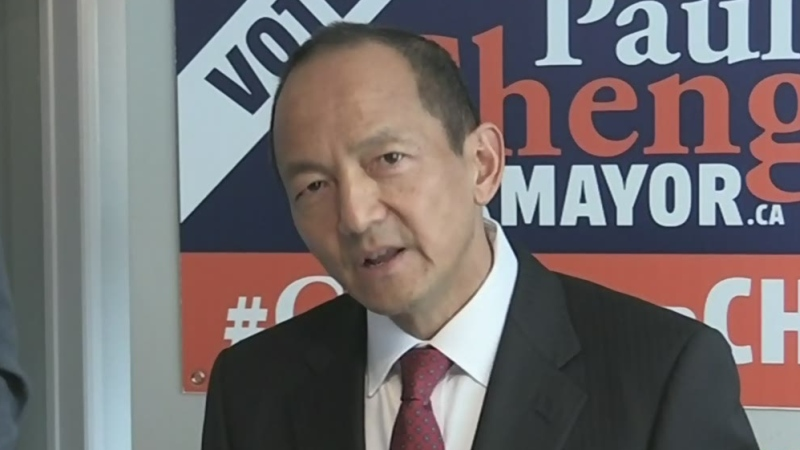 Mayoral candidate Paul Cheng.