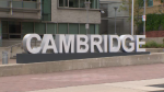 The city sign in Cambridge.