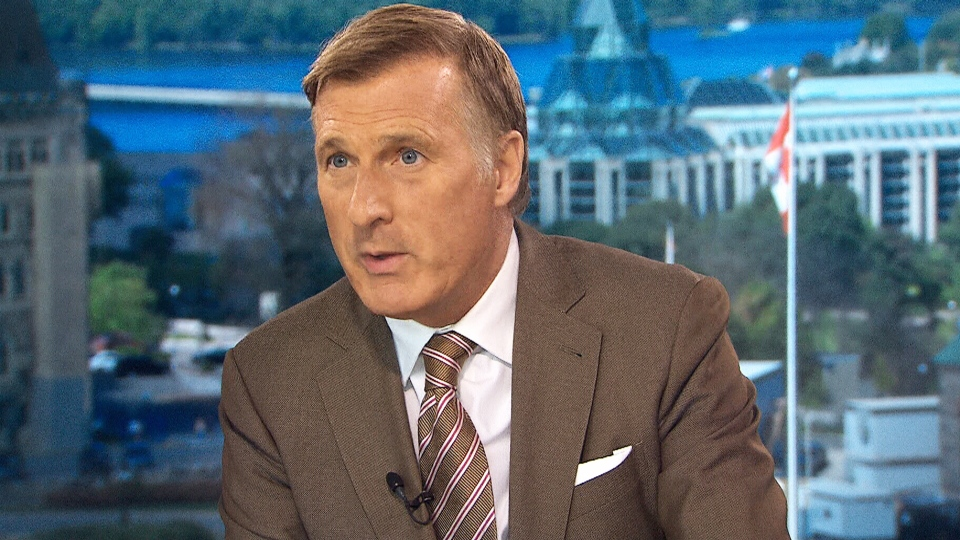 People's Party of Canada Leader Maxime Bernier on CTV's Question Period.