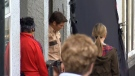 Actor James Marsden films scenes in Ladysmith, B.C. for the upcoming 2019 live-action Sonic the Hedghog movie. Sept. 14, 2018. (CTV Vancouver Island)