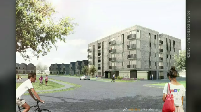 The development will be 78 units and will include 38 town houses and a 40-unit building.