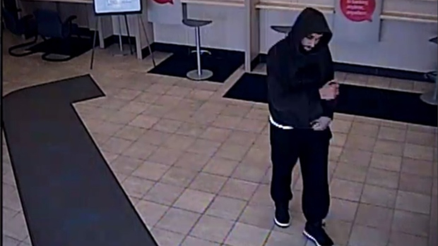 Man sought in connection to a bank robbery