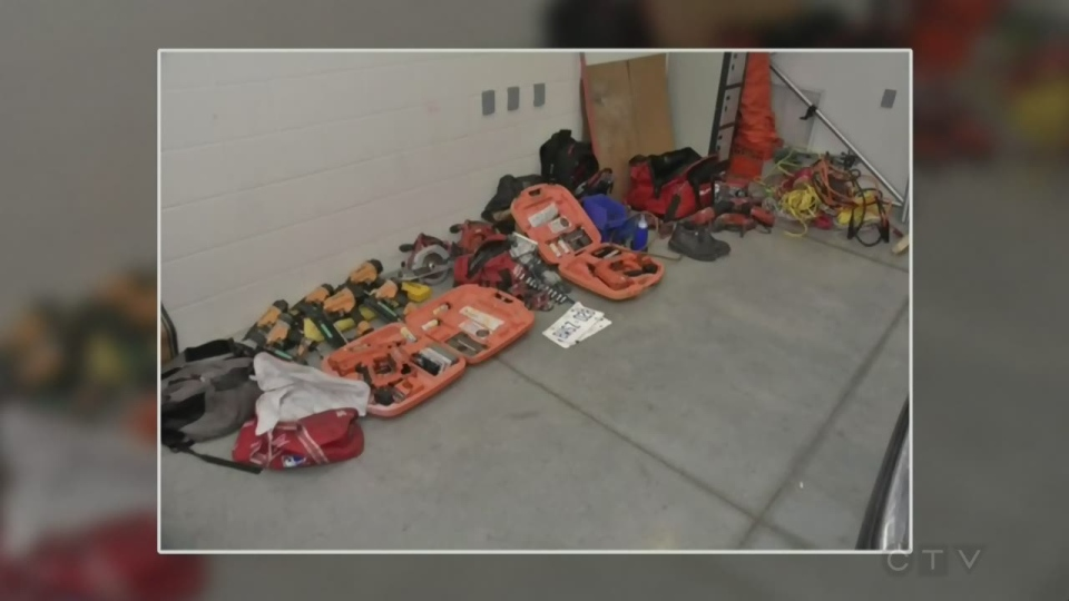 Police seized several tools, that were believed to be stolen. (Source: WRPS)