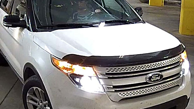 The suspect in a series of thefts in Airdrie was seen driving a white, newer model Ford Explorer. (Supplied)