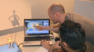 Tim Allen showing a participant a technique
