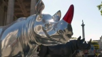 Since August, fiberglass rhinos have been peppered throughout the streets of London, England. The herd of 21 animals is aiming to bring attention to African rhinos, which have been poached nearly to extinction.