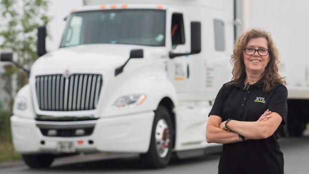 Truck driver Vivienne Carbonneau