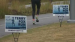 Runners brave the cold for Terry Fox Run