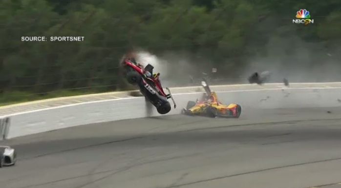 Robert Wickens speaks for the first time since crashing in an IndyCar race last August.