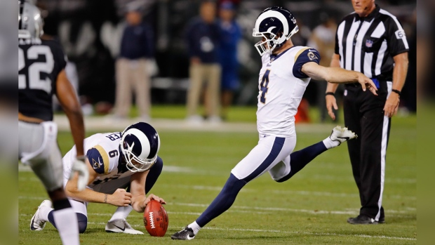 Los Angeles Rams kicker Greg Zuerlein