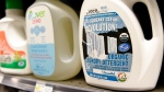 Cleaning products on display at the Whole Foods in Washington, Thursday, Oct. 9, 2014. (AP Photo/Susan Walsh)