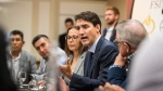 Prime Minister Justin Trudeau meets with the Federation of Sovereign Indigenous Nations in Saskatoon on Wednesday, September 12, 2018. THE CANADIAN PRESS/Matt Smith