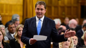 Conservative Leader Andrew Scheer stands during question period in the House of Commons on Parliament Hill in Ottawa on Monday, Sept. 17, 2018. Parliamentarians returned to the House of Commons today following the summer break. THE CANADIAN PRESS/Sean Kilpatrick