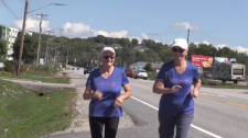 Two seniors run to raise money for North Bay hospice