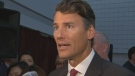 Vancouver Mayor Gregor Robertson speaks to reporters on Sept. 17, 2018.