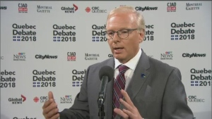 Quebec Leaders' Scrum