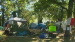 Ousted campers lay claim to provincial land
