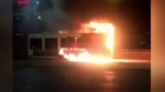 Ottawa transit bus catches fire