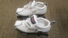 A pair of white Boxer brand roller skates were found in an abandoned back pack in Airdrie in late August. (Supplied)