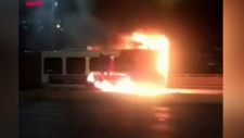 Bus fire aboard OC Transpo bus