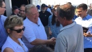 Ontario Premier Doug Ford greets people at the International Plowing Match in Chatham-Kent on Tuesday, Sept 18, 2018. (Chris Campbell / CTV Windsor)