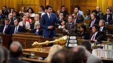 Prime Minister Justin Trudeau stands during question period in the House of Commons on Parliament Hill in Ottawa on Monday, Sept. 17, 2018. Parliamentarians returned to the House of Commons today following the summer break. THE CANADIAN PRESS/Sean Kilpatrick