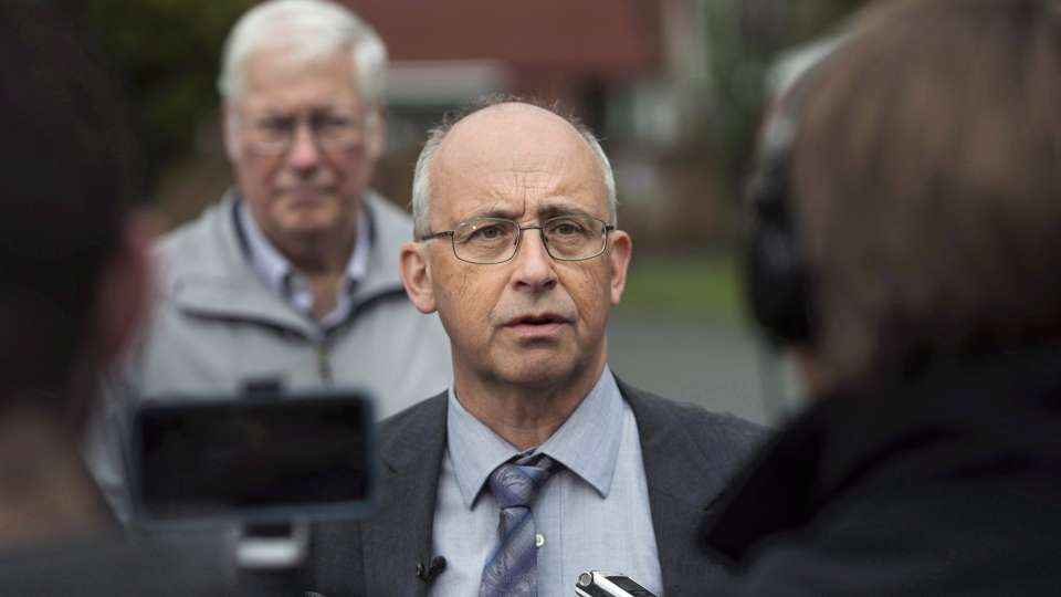 "Nova Scotia New Democratic Party leader Gary Burrill speaks to reporters during a campaign stop in Halifax on Wednesday, May 10, 2017. Nova Scotia's NDP say the emergence of a new private Halifax clinic that aims to reduce the strain on the public health-care system is ""deeply troubling."" (THE CANADIAN PRESS/Darren Calabrese)"