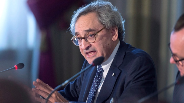 Responding to climate change is a profitable investment opportunity michael sabia ceo of caisse de depot et placement du quebec addresses a sustainable finance roundtable as the g7 environment oceans and energy ministers thecheapjerseys Choice Image