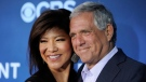 """In this June 16, 2014 file photo, Les Moonves, right, president and CEO of CBS Corporation, and his wife Julie Chen pose together at the premiere of the CBS science fiction television series """"Extant"""" in Los Angeles. (Photo by Chris Pizzello/Invision/AP, File)"""