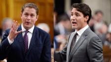 Scheer, Trudeau