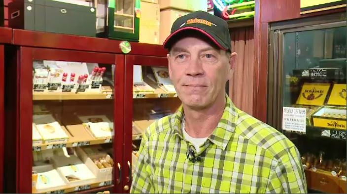 Jeff Arrowsmith owns and operates Jade Smoker's Corner, an 18 and up store specializing in expensive import cigars and tobacco products in Regina.