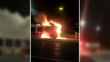Bus fire in Ottawa