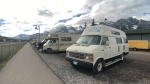 Urban camping in Canmore