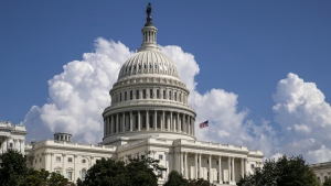 An American flag flies on the U.S. Capitol in Washington, on Sept. 3, 2018. (J. Scott Applewhite / AP)