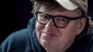 "Film director Michael Moore poses for a portrait while promoting his new movie, ""Fahrenheit 11/9,"" during the Toronto International Film Festival in Toronto, Saturday, September 8, 2018. (THE CANADIAN PRESS / Galit Rodan)"
