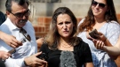 Foreign Affairs Minister Chrystia Freeland speaks as she arrives at the Office of the United States Trade Representative, Wednesday, Sept. 19, 2018, in Washington. (AP Photo/Alex Brandon)