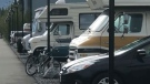 The number of people living in campers and vehicles in Canmore has explode this year.