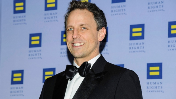Seth Myers attends the Human Rights Campaign Greater New York Gala at Waldorf Astoria Hotel on Saturday, Feb. 11, 2017, in New York. (Photo by Christopher Smith/Invision/AP)