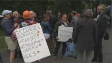 EXO protest outside Caisse de Depot