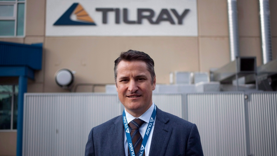 Tilray President Brendan Kennedy is photographed at head office in Nanaimo, B.C., on Thursday, November 29, 2017. THE CANADIAN PRESS/Chad Hipolito