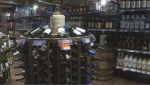 Inside Rayzr's Cellar liquor store in Yorkton, owned by Ray Sharp.