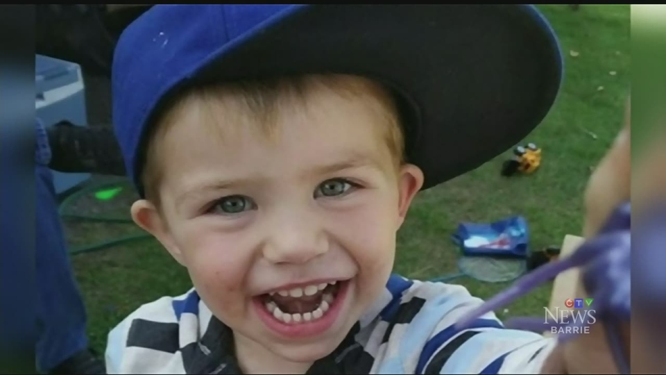 Kaden Young, 3, drowned in the Grand River after a crash in February.