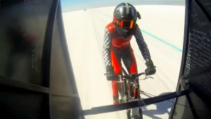 Record-breaking cycling speed