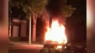Suspicious fire: SUV explodes, driver injured